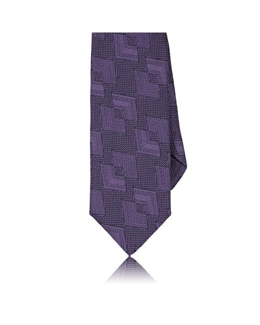 Barneys New York - Purple Geometric for Men - Lyst
