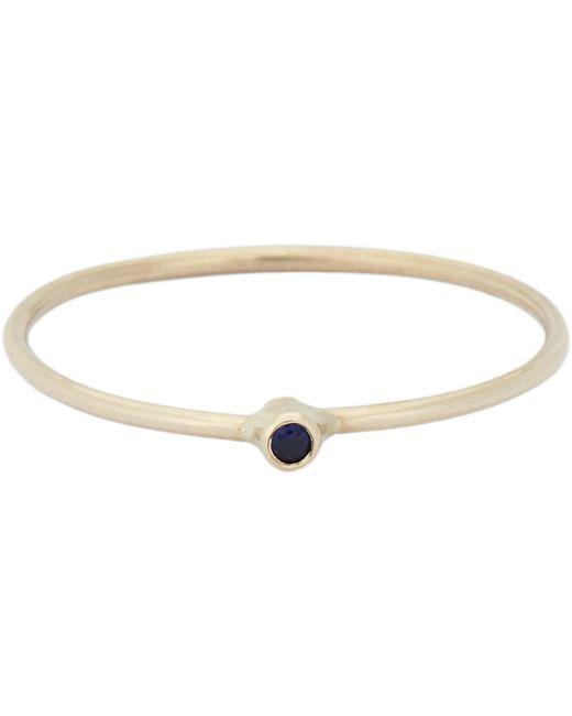 Jennifer Meyer   Metallic Gemstone Thin Ring   Lyst