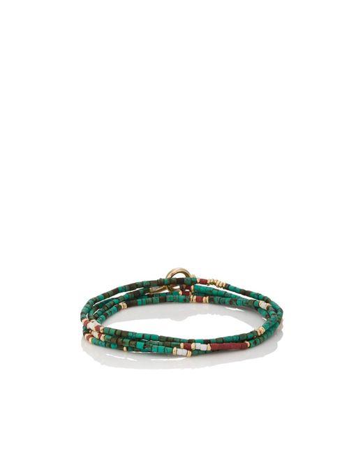 M. Cohen - Green Afghan Bead Wrap Bracelet for Men - Lyst