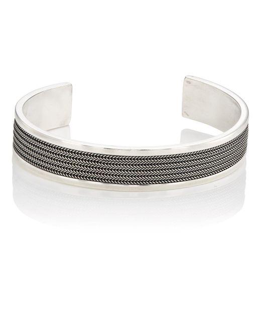 Emanuele Bicocchi - Metallic Sterling Silver Layered Cuff - Lyst