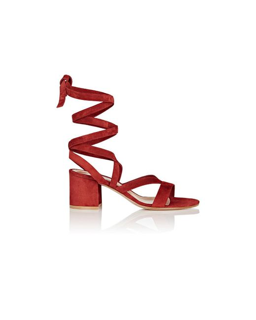 Gianvito Rossi | Red Janis Low Sandals | Lyst