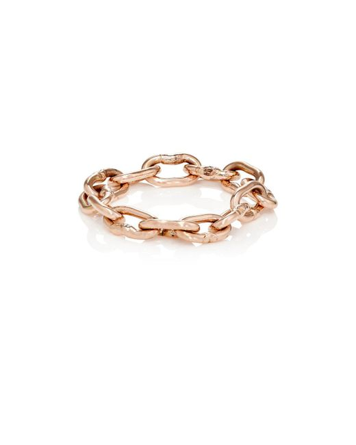 Dean Harris - Metallic Heavy Chain Ring - Lyst