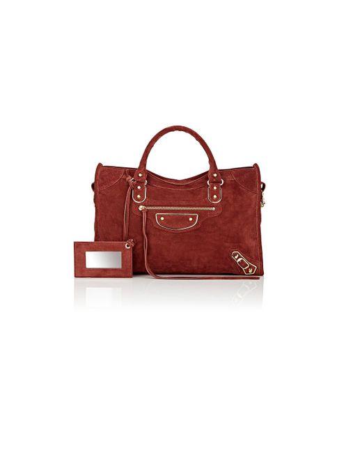 Balenciaga   Red Metallic Edge City Bag   Lyst