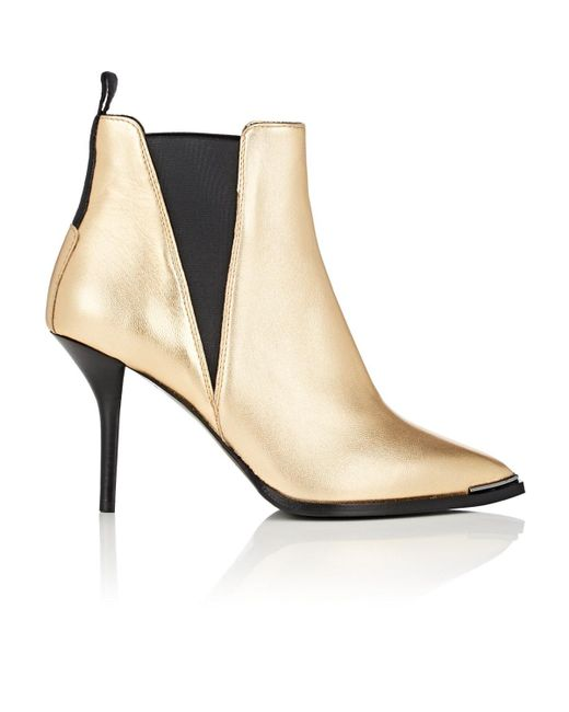 Acne - Jemma Metallic Leather Ankle Boots - Lyst