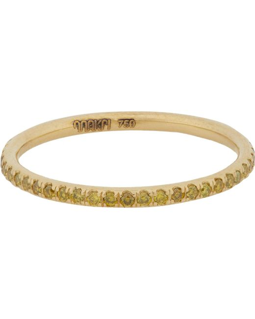 Ileana Makri - Metallic Yellow Diamond & Gold Thread Band - Lyst