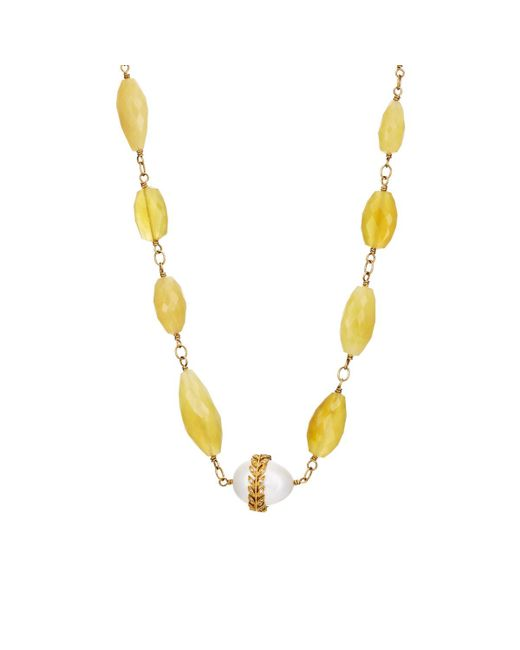 Cathy Waterman | Metallic Yellow Opal Beaded Necklace | Lyst