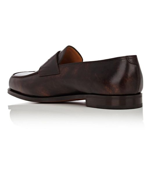 709eafe3ffa John Lobb Lopez Penny Loafers in Brown for Men - Save 40% - Lyst