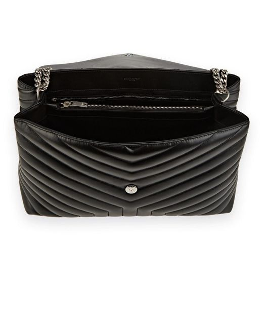 9dd6679019db ... Saint Laurent - Black Monogram Loulou Large Leather Shoulder Bag - Lyst  ...