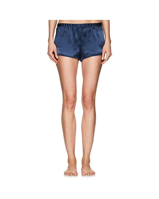 Araks - Blue Jada Silk Charmeuse Pajama Shorts - Lyst