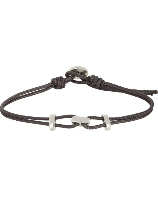 Zadeh - Black Sterling Silver & Parachute Cord Bracelet for Men - Lyst
