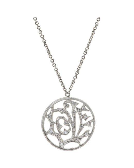 Cathy Waterman - Metallic Love Pendant Necklace - Lyst