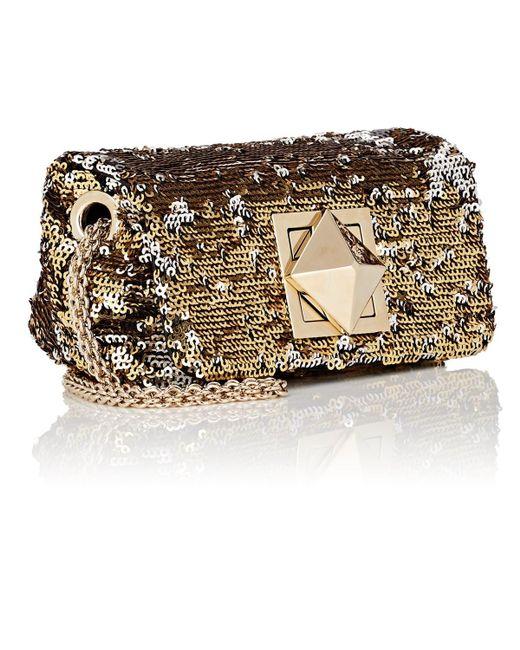 afa2191a9e ... Sonia Rykiel - Metallic Le Copain Small Sequined Chain Shoulder Bag -  Lyst ...