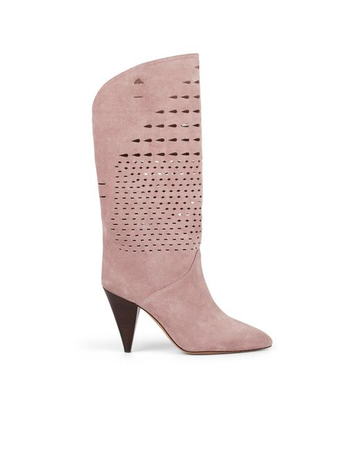 3b58d90c936 Isabel Marant - Purple Lurrey Suede Boots - Lyst ...