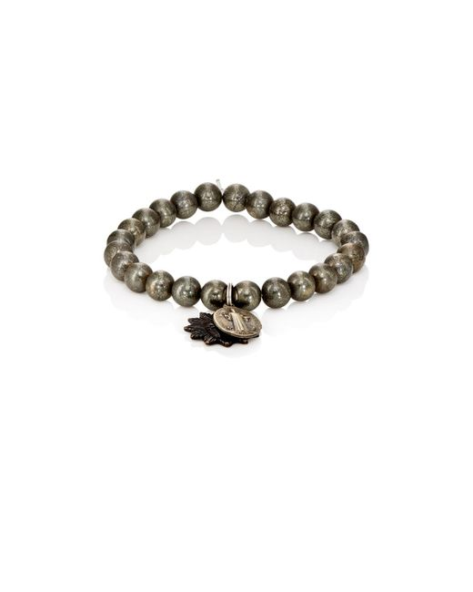 Miracle Icons | Metallic Charms On Beaded Bracelet for Men | Lyst