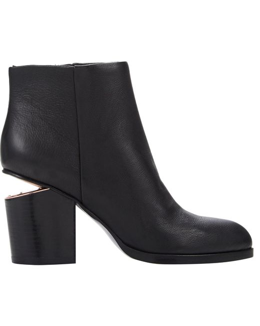 Alexander Wang - Black Gabi Ankle Booties With Rose Gold Hardware - Lyst