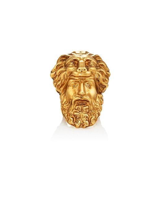 Gucci - Metallic Mask Of Hercules Ring for Men - Lyst