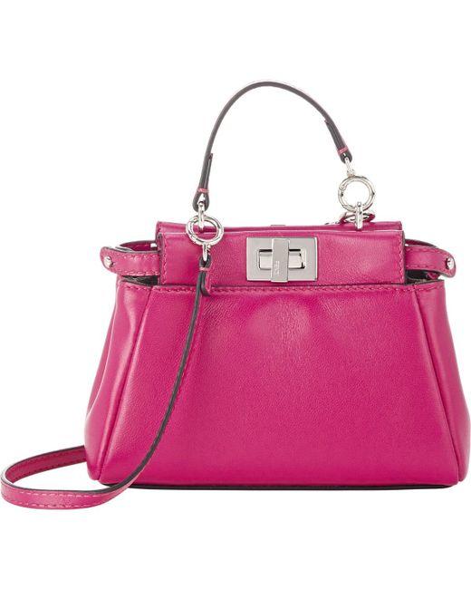 Fendi   Pink Peekaboo Micro Satchel   Lyst