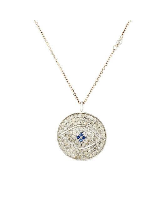 Feathered Soul - Blue Evil Eye Pendant Necklace - Lyst