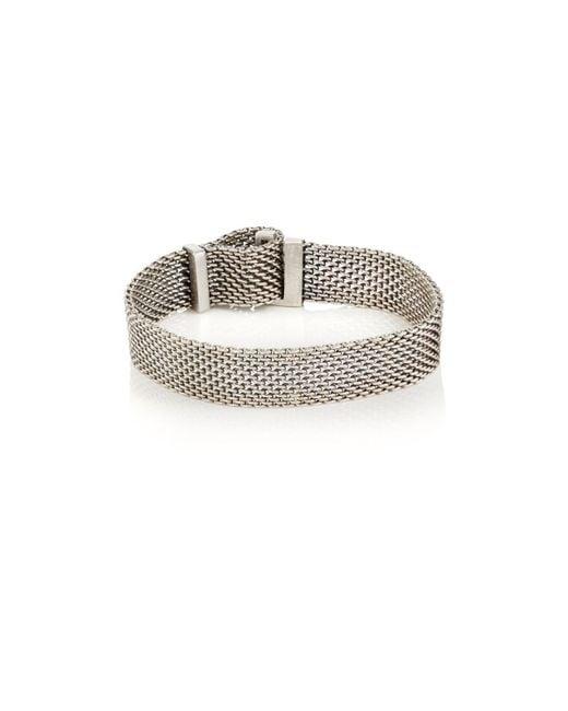 Title Of Work - Metallic Adjustable Macro-mesh Bracelet for Men - Lyst
