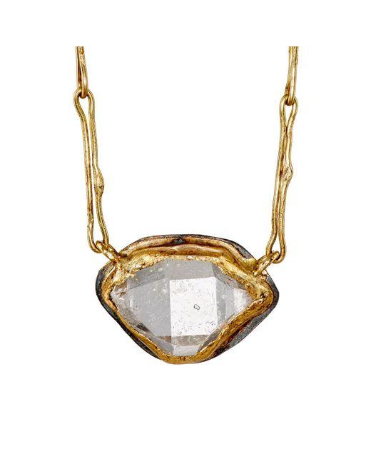 Judy Geib | Metallic Marquise Pendant Necklace | Lyst