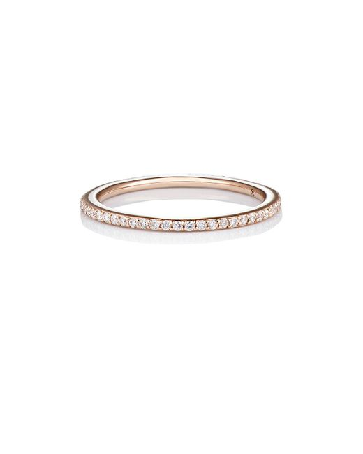 Raphaele Canot - Multicolor Pink Gold Skinny Deco Eternity Ring - Lyst