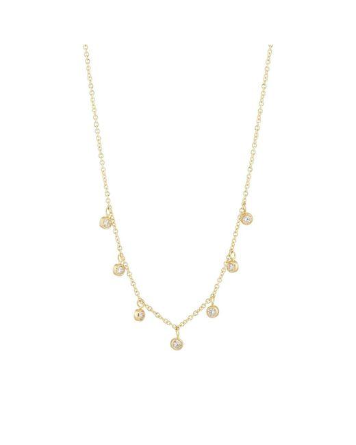 Jennifer Meyer Metallic Mini Bezel Necklace