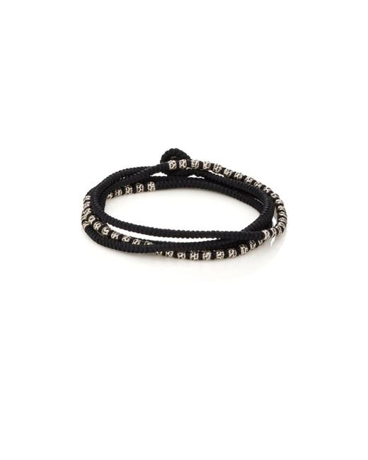 M. Cohen - Black Beads On Knotted Cord Wrap Bracelet - Lyst
