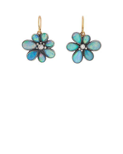 Judy Geib - Blue Wildflower Drop Earrings - Lyst