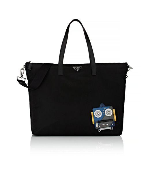 8398b3cbb1f21 Prada Robot Tote Bag in Black for Men - Save 12% - Lyst