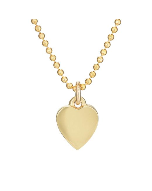 Jennifer Meyer - Metallic Solid Heart Necklace - Lyst