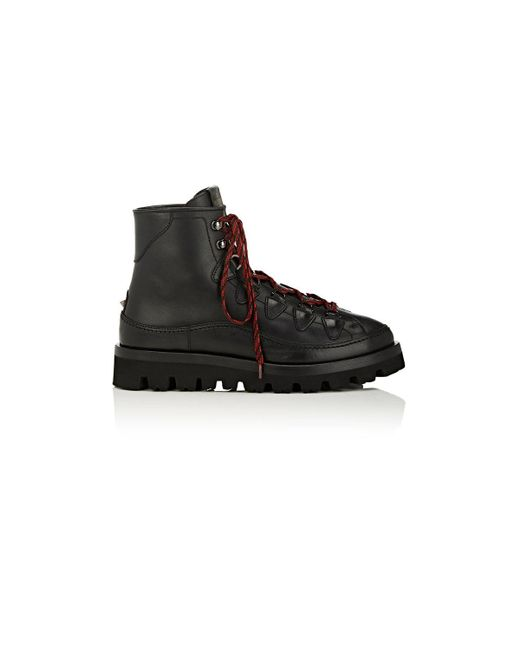 Valentino | Black City Trekking Leather Boots for Men | Lyst