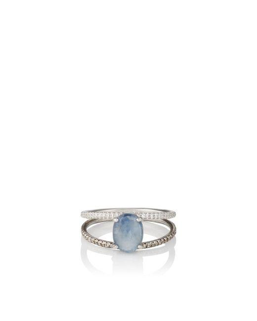 Zoe - Blue Sapphire Split-shank Ring - Lyst