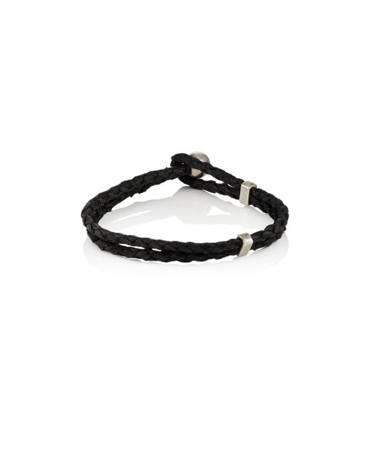 Title Of Work | Black Braided Leather Bracelet for Men | Lyst