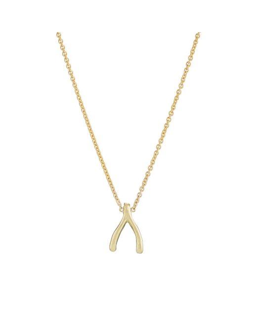 Jennifer Meyer - Metallic Mini Wishbone Necklace - Lyst