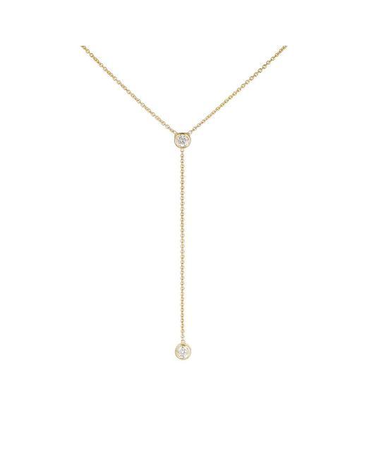 Jennifer Meyer - Metallic Diamond Bezel Lariat Necklace - Lyst