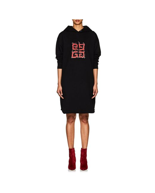 Givenchy - Black g Logo Cotton Terry Hoodie - Lyst