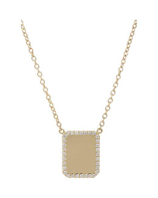 Finn - Metallic Diamond & Gold Looking Glass Pendant Necklace - Lyst