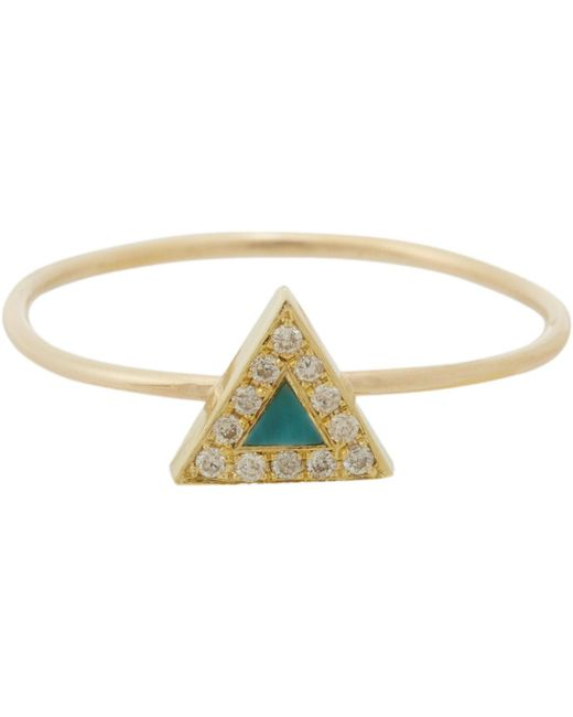 Jennifer Meyer | Multicolor Triangle Ring | Lyst