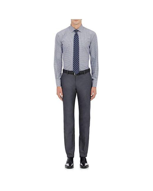 Barneys New York - Blue Checked Cotton Dress Shirt for Men - Lyst