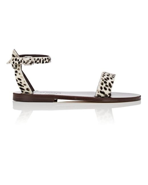 K. Jacques - Brown Pampa Calf Hair Sandals - Lyst