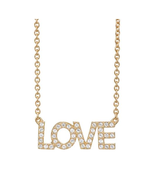 Zadig & Voltaire | Metallic love Pendant Necklace | Lyst