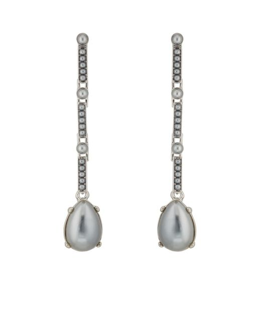 Kenneth Jay Lane - Metallic Imitation-pearl-embellished Earrings - Lyst