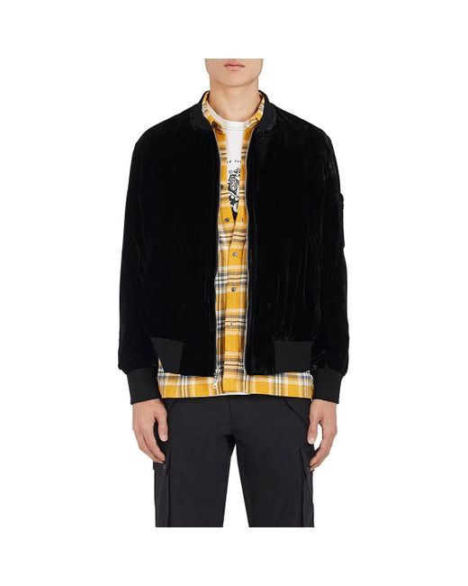 Ovadia And Sons - Black Reversible Camouflage & Velvet Bomber Jacket for Men - Lyst
