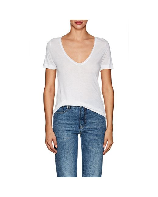 Lyst - Zadig & voltaire Nils Jersey T in White
