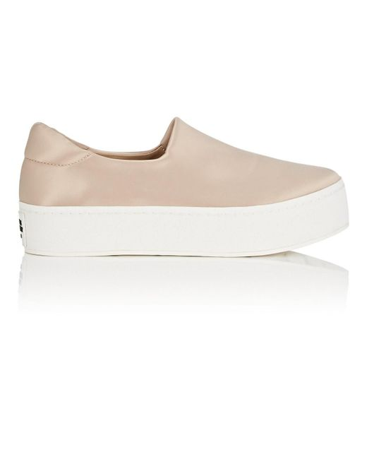 Opening Ceremony - Natural Cici Satin Platform Slip-on Sneakers - Lyst