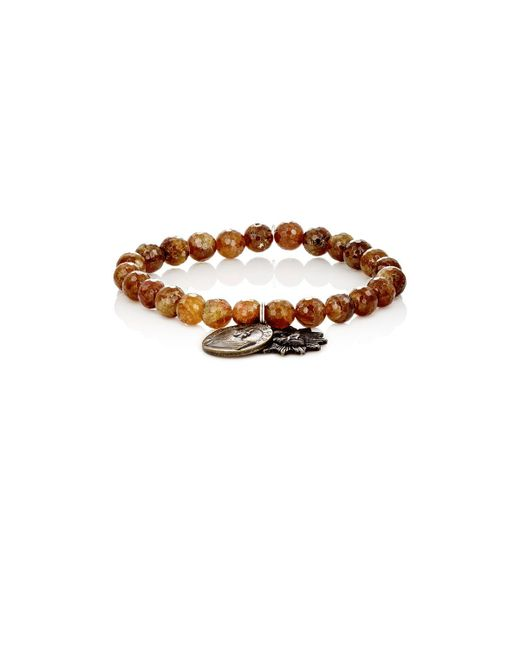 Miracle Icons | Green Garnet Bead & Charm Bracelet | Lyst