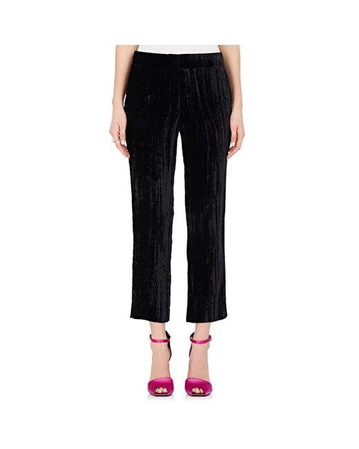 Koche - Black Crushed Velvet Ankle Trousers - Lyst