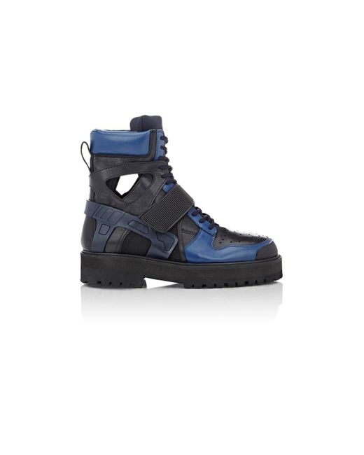 Hood By Air | Blue Avalanche Platform Boots for Men | Lyst