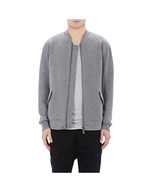 Helmut Lang | Gray Jersey Bomber Jacket for Men | Lyst