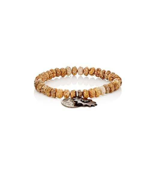 Miracle Icons | Brown Pietersite Rondelle & Charm Bracelet | Lyst